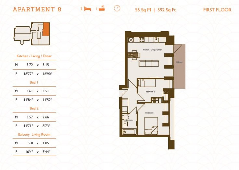 Floorplan for Tunbridge Wells